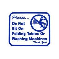 L111 Do Not Sit On Folding Tables