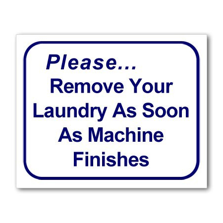 L121 Remove Your Laundry