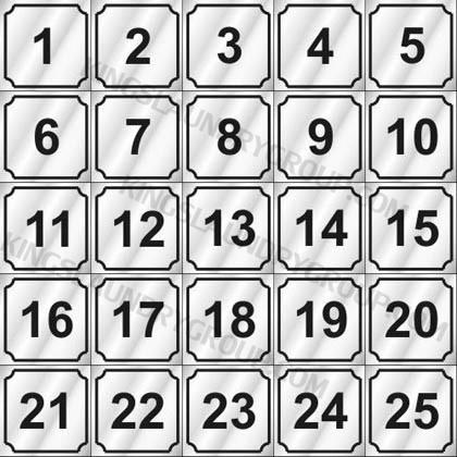 "# ND125   2"" Number Decals (25 pcs. Per Sheet)"