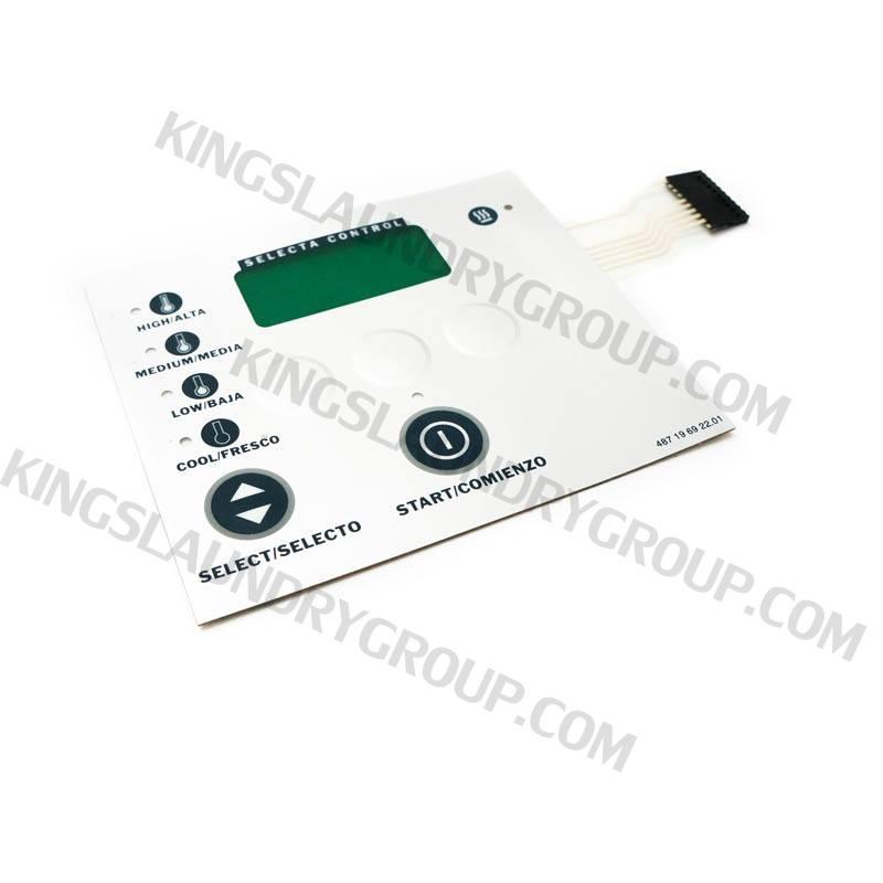 Wascomat # 196922 Keypad, TD3030 Metered