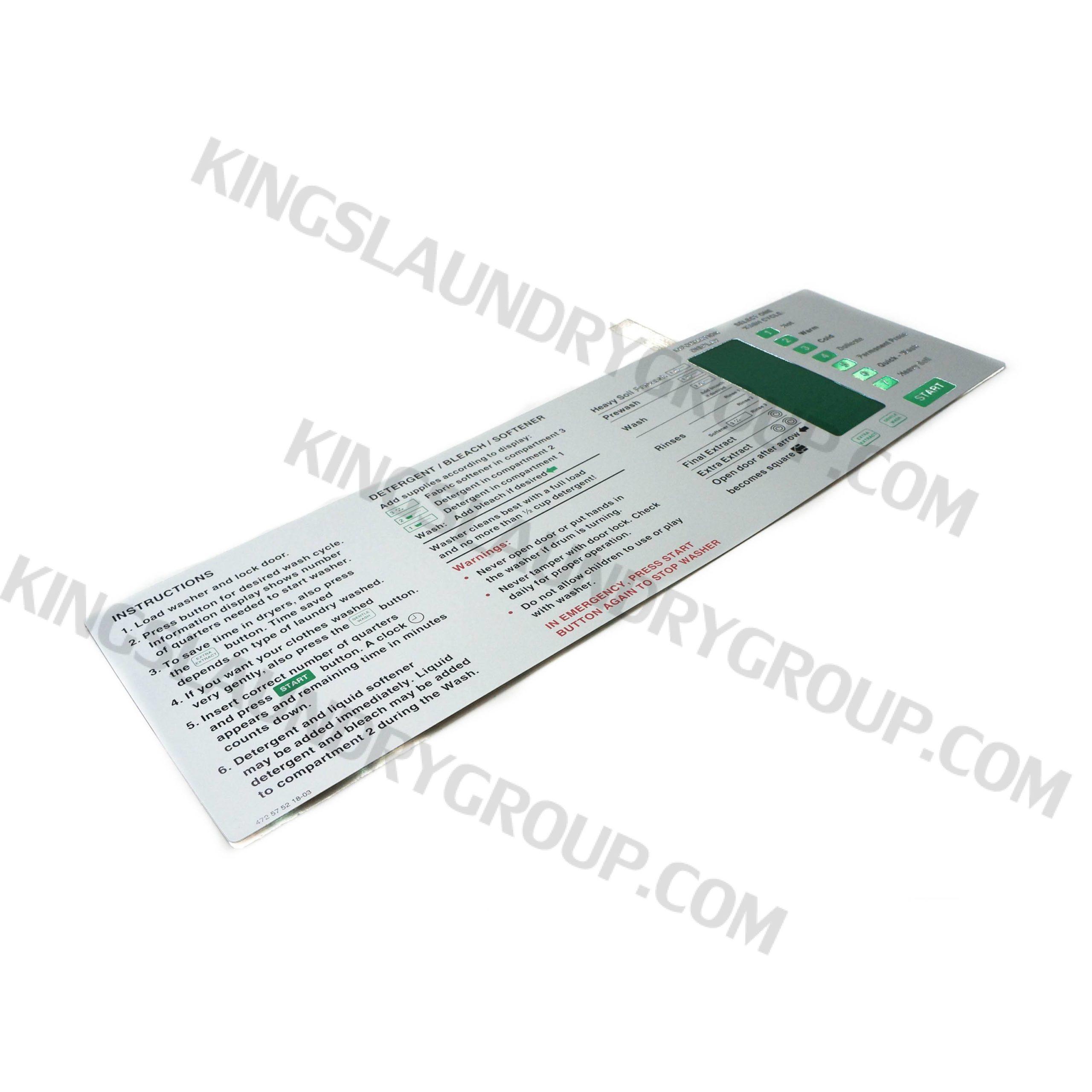 Wascomat # 575218 Gen-5 Emerald Touch Pad