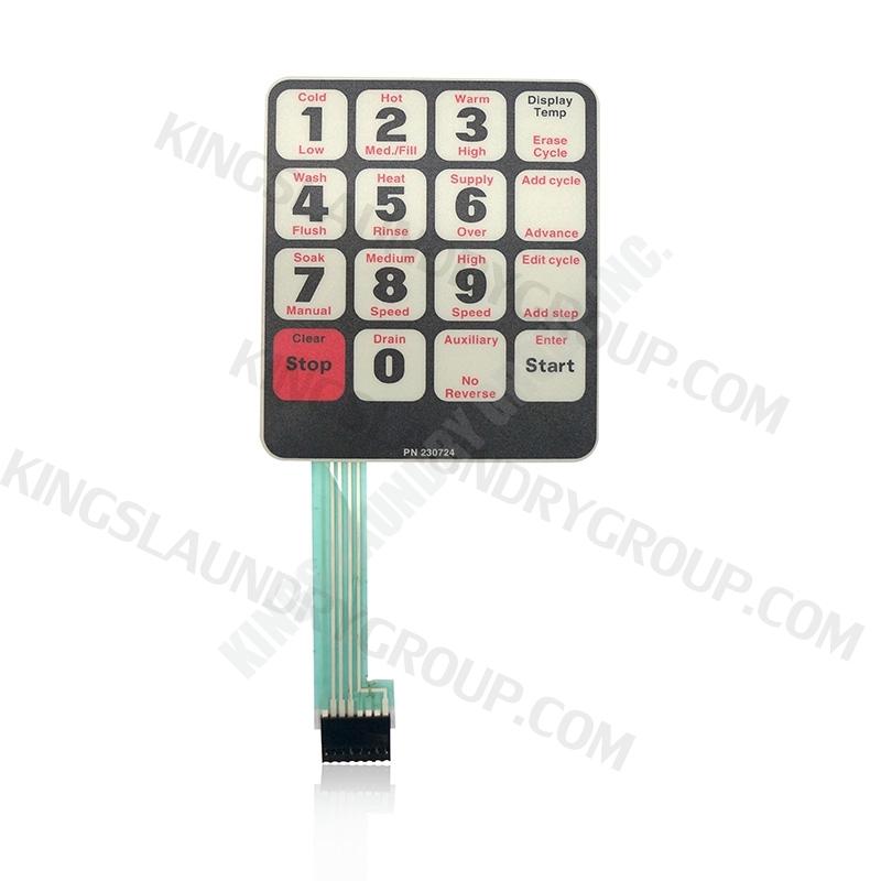 For # F230724 Washer Keypad
