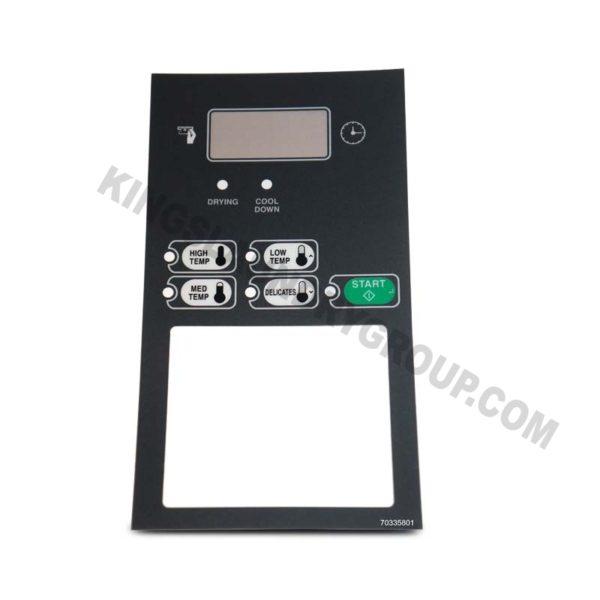 For # 70335801 Dryer Overlay